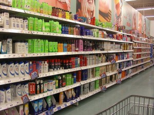 shampoo aisle of your local grocery store